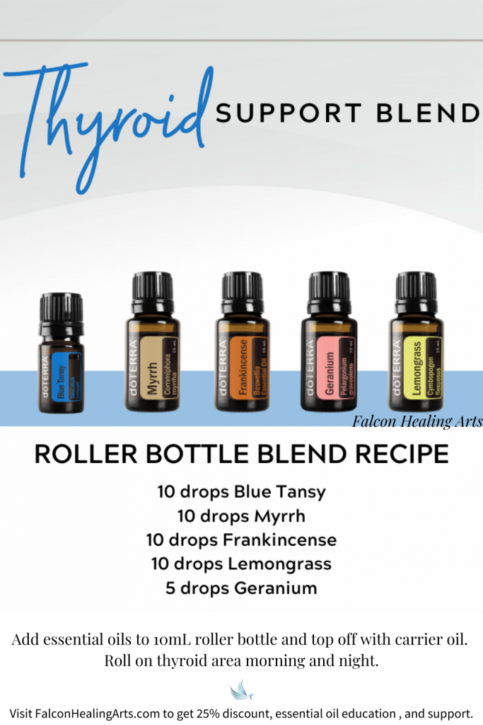 doterra essential oil roller bottle blend for thyroid