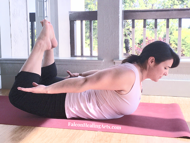 locust pose shalabhasana knees bent low back pain