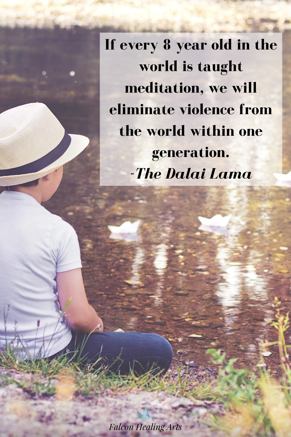 Dalai Lama meditation quote for kids to end world violence