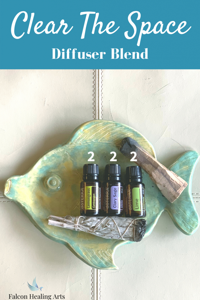 Clear negative energy essential oil diffuser blend