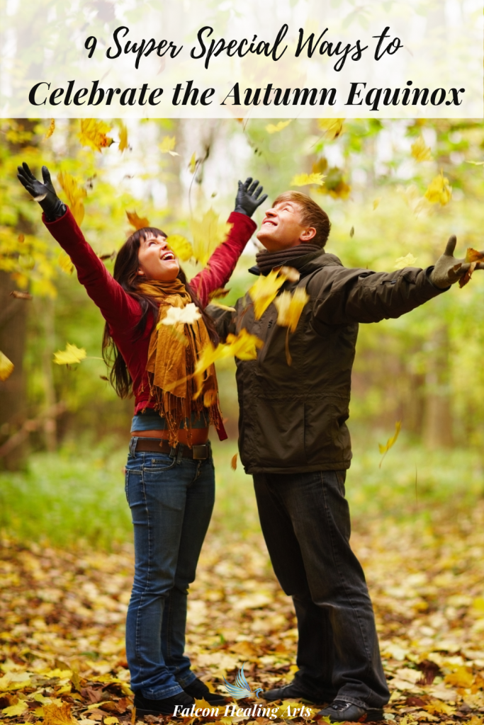 Couple celebrating the Autumn Equinox